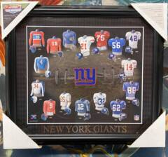 New York Giants Evolution of Pro Football Team Uniforms Framed Picture