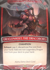 Argent Saga TCG: Alpha Intro Demo Deck [Fire]