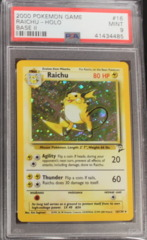 Raichu-Holo 16/130 PSA 9 MINT Base Set 2