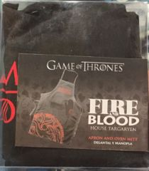 Game of Thrones FaB House Targaryen Apron and Oven Mitt Set