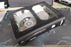 Black Modified Xbox 360 Console: Parts or Repair Only - Sold as is