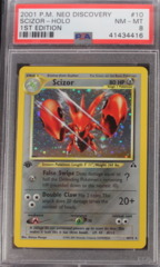 Scizor-Holo 10/75 PSA 8 NM-MT 1st Edition