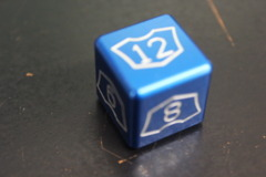 Blue Small Planeswalker Loyalty Counter 7-12 Metal