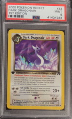 DARK DRAGONAIR 33/82 PSA 9 MINT 1st Edition Team Rocket