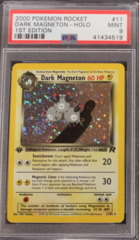 DARK MAGNETON-HOLO 11/82 PSA 9 MINT 1st Edition Team Rocket