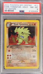 Dark Tyranitar-Holo 11/105 PSA 8 NM-MT 1st Edition Neo Destiny