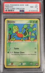 Treecko 1 Kids' WB! Poke Card Creator PSA 8