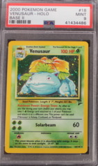 Venusaur-Holo 18/130 PSA 9 MINT Base Set 2