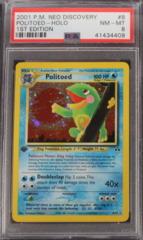 Politoed-Holo 8/75 PSA 8 1st Edition Neo Discovery
