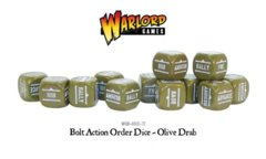 Bolt Action Orders Dice - Olive Drab 12 pack