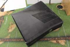 Matte Black Xbox 360 S Console (1439): Parts or Repair Only - Sold as is