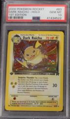 DARK RAICHU-HOLO 83/82 PSA 10 GEM MT 1st Edition Team Rocket