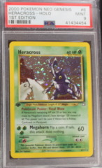 HERACROSS-HOLO 6/111 PSA 9 MINT POKEMON NEO GENESIS 1ST EDITION