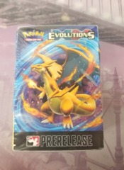 XY Evolutions Prerelease Pack slightly indented box