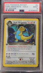 DARK DRAGONITE-HOLO 5/82 PSA 9 MINT (B) 1st Edition Team Rocket