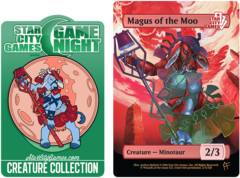 Token and Pin Set - Magus of the Moo: Creature - Minotaur 2/3 (Foil)
