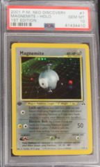 Magnemite-Holo 7/75 PSA 10 (B) 1st Edition Neo Discover