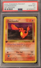 CHARMANDER 50/82 PSA 10 GEM MT 1st Edition Team Rocket