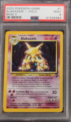 Alakazam-Holo 1/130 PSA 9 MINT Base Set 2