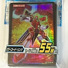 Japanese Yugioh Official Card Sleeve Protector Powercode Link 55 count