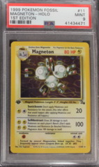 Magneton-Holo 11/62 PSA 9 1st Edition Fossil
