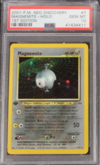 Magnemite-Holo 7/75 PSA 10 1st Edition Neo Discover