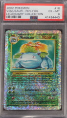 VENUSAUR-REV.FOIL 18/110 PSA 6 EX Legendary Collection