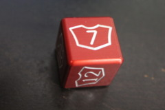 Red Large Planeswalker Loyalty Counter 7-12 Metal