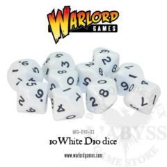10 D10 Warlord Games White (WG-D10-33)