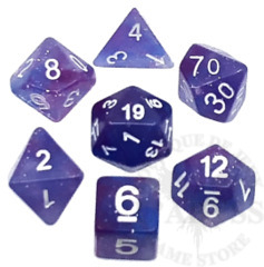 7 Polyhedral Abyss Dice Set Galaxy - AD044