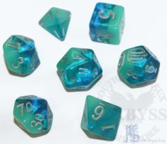 7 Polyhedral LD Birthday Dice Set December Turquoise - LD-BDTUR3