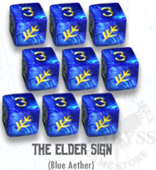 Elder Dice - 9 D6 The Elder Sign - Blue Aether (ED6-L11)