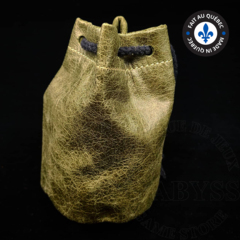 Premium Leather Dice Bag - Forest Green Small