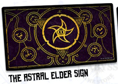 Infinite Black Play Mat - The Astral Elder Sign (Mystic Purple) ( PLYM-018 )