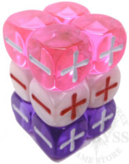 12 Fudge D6 Fate Dice Valentine - EHP9010