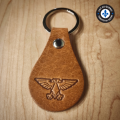 Premium Leather Keychain - Aquila Brown