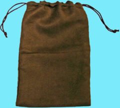 DICE BAG - 6X9 MICROSUEDE BROWN