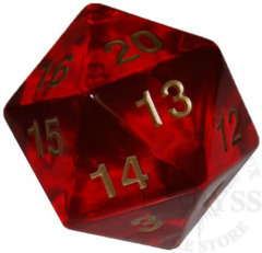 Jumbo Spindown D20 55mm Ruby Gold - KOP17970