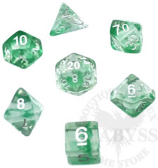 7 Polyhedral Abyss Dice Set Envy - AD033