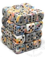 36 D6 Festive 12mm Dice Vibrant w/Brown - CHX27841