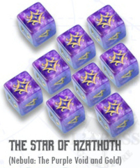 Elder Dice - 9 D6 The Star of Azathoth - Nebula (ED6-S01)