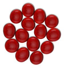 Glass Stone Gaming Counters - Ruby Red 30