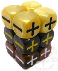12 Fudge D6 Fate Dice Centurion - EHP9005