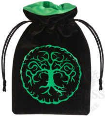 Forest Dice Bag Velour black & green