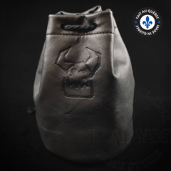 Premium Leather Dice Bag - Ork Black Large