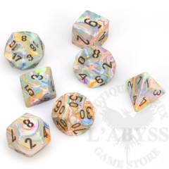 7 Polyhedral Dice Set Festive Vibrant with brown - CHX27441
