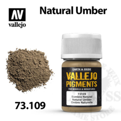 Vallejo Pigments - Natural Umber 35ml - Val73109
