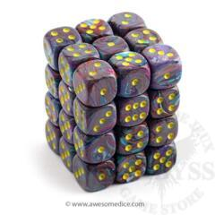 36 D6 Festive 12mm Dice Mosaic w/Yellow - CHX27850