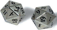 Heavy Metal D20 Dice Set - Chrome (84900)