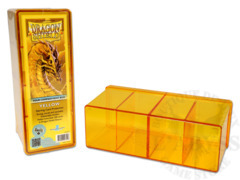 Dragon Shield Four-Compartment Storage Box - Yellow